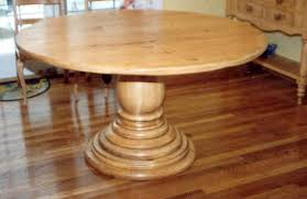 Unfinished Pedestal Table American Custom Displays Inc Tables