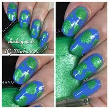 ehmkay nails earth day nails earth nail art with illamasqua