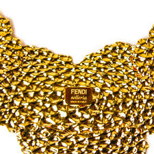 gold plated necklace images Fendi hammered gold plated necklace voyage in style jpg