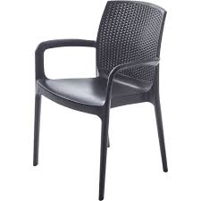 chaise de jardin fauteuil exterieur tresse chaises pvc jardin djunails