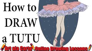 how to draw a ballet tutu youtube