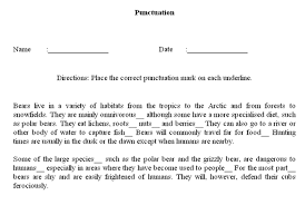 punctuation marks worksheets free worksheets library download