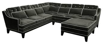 U Sectional Sofas by Napa Transitional Tufted U Shaped Sectional Sofa With Contrast