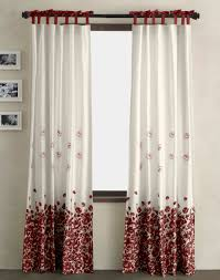 bedroom curtain designs for windows white red floral curtain red curtain designs for windows white red floral curtain red bow curtain white wall