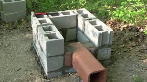 how to build a smokehouse part 2 flue pipe and building blocks