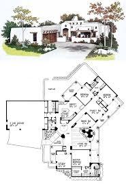 adobe homes plans 49 best santa fe house plans images on car garage