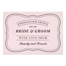 and groom advice cards words of advice for and groom wedding ideas