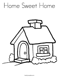 home sweet home coloring page twisty noodle