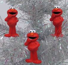 amazon com sesame street muppet ornament set featuring 6 elmo