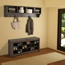Entryway Cubbie Shelf With Coat Hooks Mueble Zapatos Madera Color Oscuro Http Casaydiseno Com Muebles