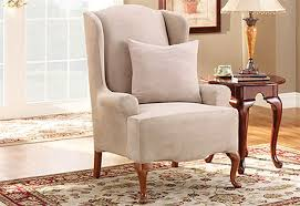 Wing Chair Cover Sofa Furniture Covers Sure Fit Home Decor