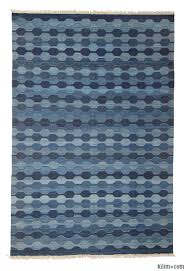 Kilim Area Rug K0003886 Blue Light Blue New Turkish Kilim Area Rug