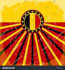 Uganda Flag Colours Belgium Vintage Old Poster Belgian Flag Stock Vector 422712706