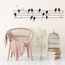 compare prices on wall sticker bird note online shopping buy low diy birds flowers music notes vinyl wall decal stickers for sitting room living room home decor
