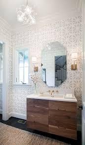 Wallpapered Bathrooms Ideas 60 Best Powder Room Images On Pinterest Room Bathroom Ideas And
