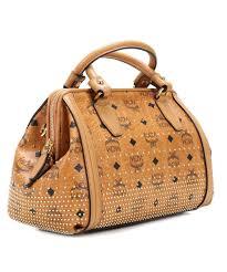 mcm designer mcm gold visetos handbag cognac mwb4svi91co001 designer bags