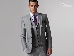 mens light gray 3 piece suit jacket pants vest 3 piece light gray groom mens slim fit tuxedo