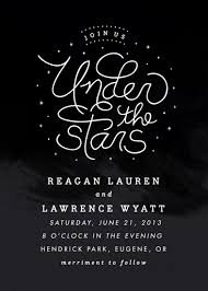 Wedding Invitations Under 1 Wedding Invitations Under The Stars At Minted Com