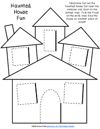 haunted house lift the flap template halloween prek pinterest