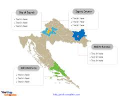 Zagreb Map Free Croatia Editable Map Free Powerpoint Templates