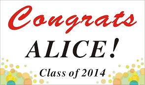 congratulations graduation banner 3ftx5ft custom personalized congrats grads congratulations