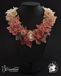 beading flower necklace images 780 best beaded flowers necklace images beaded jpg