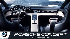 porsche mission e charging porsche concept study mission e interior design youtube