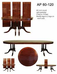 large traditional round mahogany dining table for 6 to 12 people