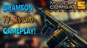 exclusive modern combat 5 bramson t7 recon gameplay youtube