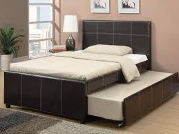 Leather Daybed With Trundle Bedroom Captivating Full Size Daybed With Trundle For Bedroom