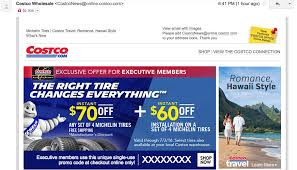 Tire Chains For Cars Costco Costco Executive Members Email Offer 130 Off Installed Michelin