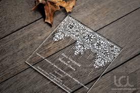 engraved wedding invitations laser engraved acrylic wedding invitation laser cutting lab llc