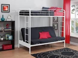 Futon Bunk Bed With Mattress Dhp Furniture Twin Over Futon Bunk Bed