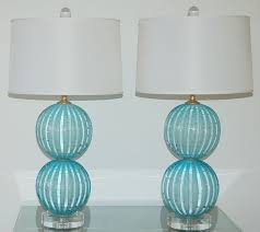 teal glass lamp creation of harmony within the room warisan