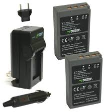 amazon com wasabi power battery 2 pack and charger for olympus