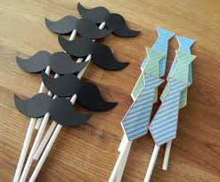 mustache baby shower decorations cupcake toppers ties and mustaches baby shower or
