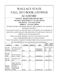 textbook price list wallace state hanceville