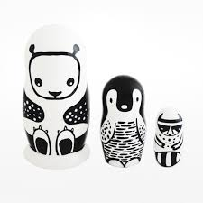 nesting doll set black u0026 white animals u2013 design museum shop