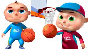 zool babies playing basket ball animated funny cartoon cartoon