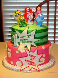 yo gabba gabba birthday cake3d cards 34 best cakes and party ideas images on birthday party