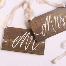 mr and mrs sign for wedding mr and mrs signs wedding chair signs wooden wedding sign