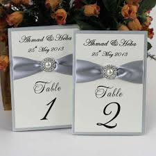 silver table numbers wedding tbrb info