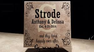 engraved wedding gifts personalized wedding tiles o reilly tiles