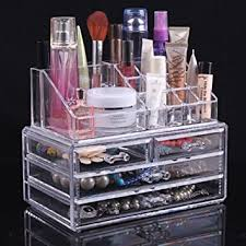 amazon com topsalon acrylic cosmetic organizer 4 drawers drawer