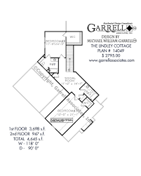 2nd floor house plan lindley cottage house plan house plans by garrell associates inc