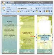 brochure zafira pics brochure word 2007 pamphlet templates