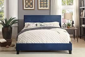 Blue Bed Frame Blue Bed Frame Homelegance Upholstered Eastern King Platform Bed