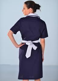 blouse femme de chambre blouse femme de chambre à manches courtes bleu nuit carlton