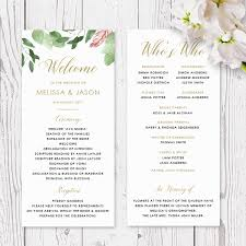 cardstock for wedding programs modern monogram wedding program printed on luxury cardstock free