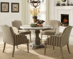 chairs grey color round teak wood pedestal dining table and cool